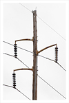 A photo of a utility pole