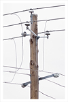 A photo of a utility pole detailing it's structure and components